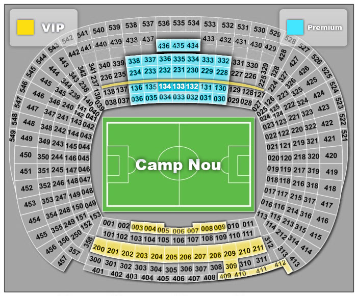 Camp Nou Stadium Scheme Terms Of Payment And Delivery Of Tickets