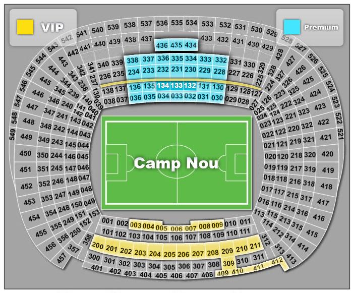 Схема стадиона Campnou и